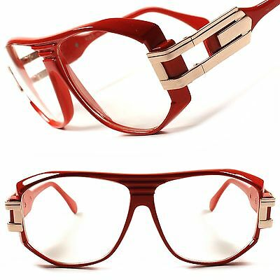 Vintage Retro Oversized Hip Hop Rapper Celebrity Square Clear Lens Glasses Frame