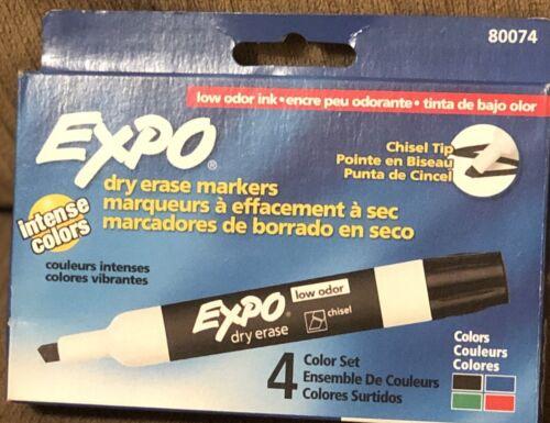 EXPO® Low Odor Dry Erase Marker Chisel Tip 4//Se 071641800748 Basic Assorted