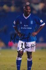 Birmingham City Michael Johnson 6X4 foto firmada a mano.