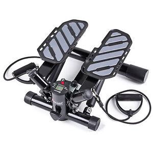 Stepper mit Expander Trainingscomputer Aerobic Fitness Swing-Stepper Computer