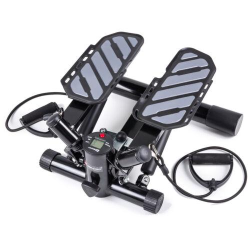 Swing Side Stepper Twister mit Computer und Expander Aerobic Fitness Step