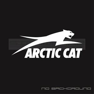 Arctic Cat snowboard text skate  car window bumper stickers decals text Pair