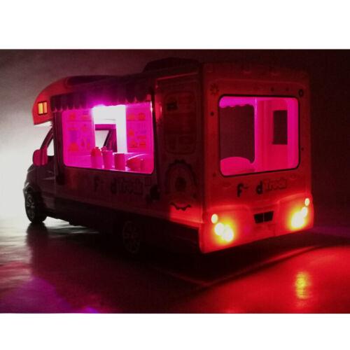 1:32 Burger Trinke Pizza Fast Food LKW Die Cast Modellauto Spielzeug Kinder Blau