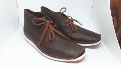 talla de hombre oscuro cordones cuero marrón para de Unido Botas 8 Clarks cuero con Reino ApOxTq0w