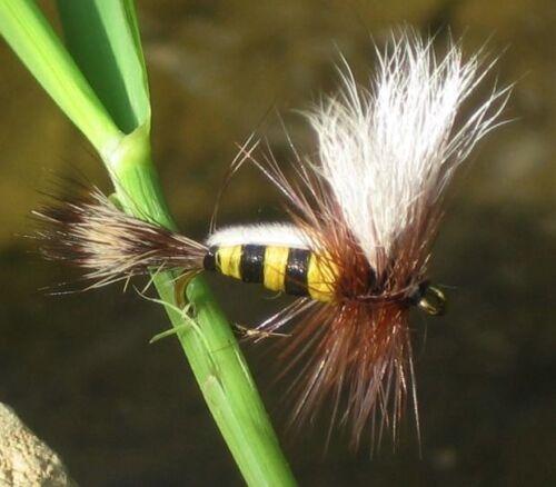 4 Stück von einer Größe GILCHRIST FLIEGEN.Trockenfliegen Bee Humphy