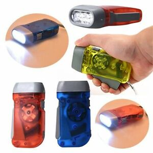 3-LED-Dynamo-Wind-Up-Flashlight-Torch-Light-Hand-Press-Crank-NR-Camping-amp-XN