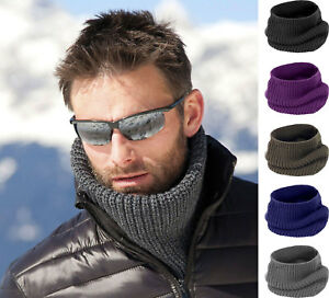 Mens Womens Ladies Snood Knit Knitted Super Soft Neck Warmer Ski Scarf Wrap