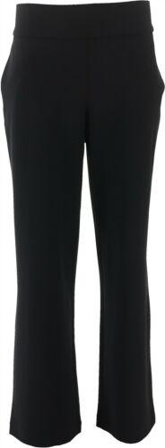 DG2 Diane Gilman Wrinkle-Resist Stretch PullOn Trouser BLACK L NEW 687-691