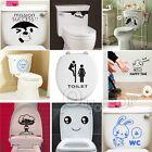 Gracioso lindo Pegatina Accesorio Decorativo Baño Inodoro Retrete Wall Sticker