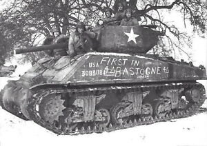 Image result for US SHERMAN TANK BASTOGNE""