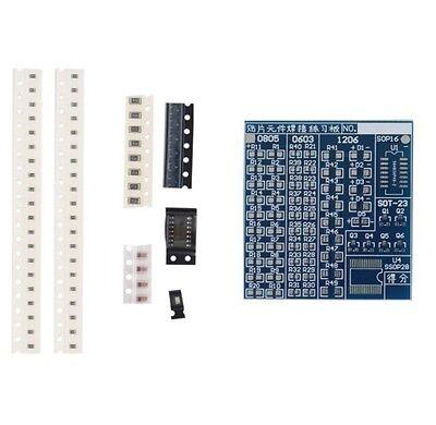 SMT SMD Component Welding Practice PCB Board Soldering Solder DIY Suite Kit G$