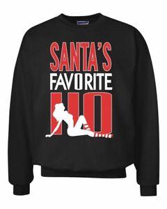 Santa-039-s-Favorite-Ho-Funny-Stripper-Xmas-Ugly-Christmas-Sweater-Crewneck-Graphic