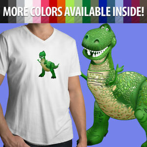 Mens-Unisex-Tee-V-Neck-T-Shirt-Toy-Story-Tyrannosaurus-Rex-Dinosaur-Disney-Pixar