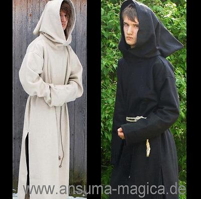 Sheep wool felt monk robe-medieval monk's robe RAIN RESISTANT Monk Kutte