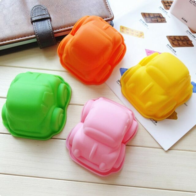 1pc 3D Car Shape Silicone Chocolate Candy Cake Soap Molds Mould Sugarcraft Tool