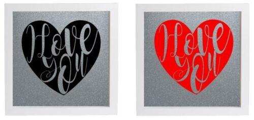 Vinyle autocollant diy box cadre i love you art moderne valentine/'s day sticker