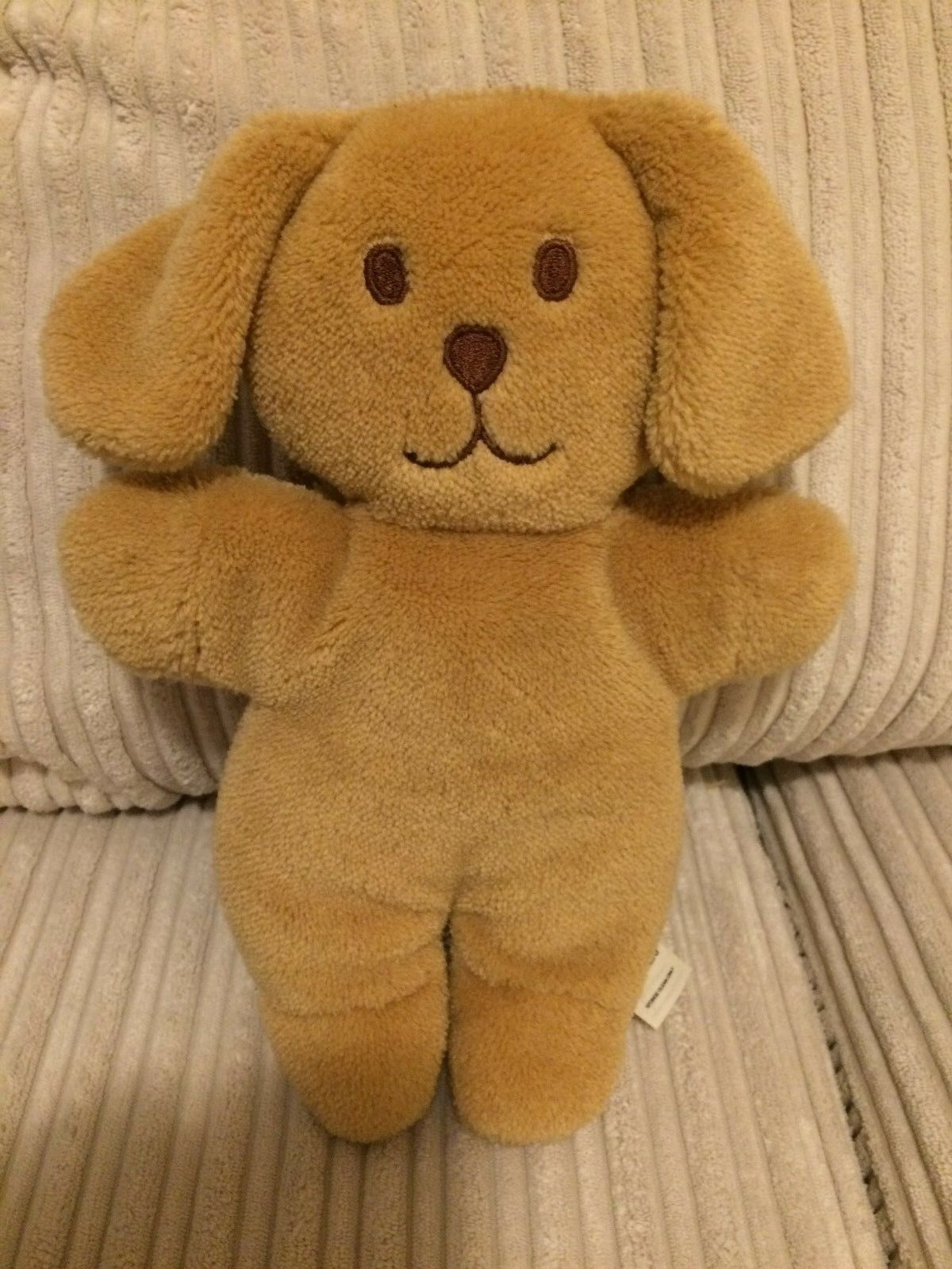 VINTAGE ULTRA RARE FLAT PUPPY BROWN SOFT TOY