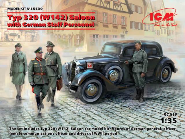 ICM 1/35 tipo 320 (W142) Berlina Segunda Guerra Mundial German personal coche con el personal del personal de Alemán