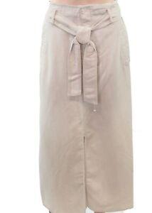 Lauren-By-Ralph-Lauren-Women-039-s-Skirt-Beige-Size-2-Maxi-Straight-Belted-135-369