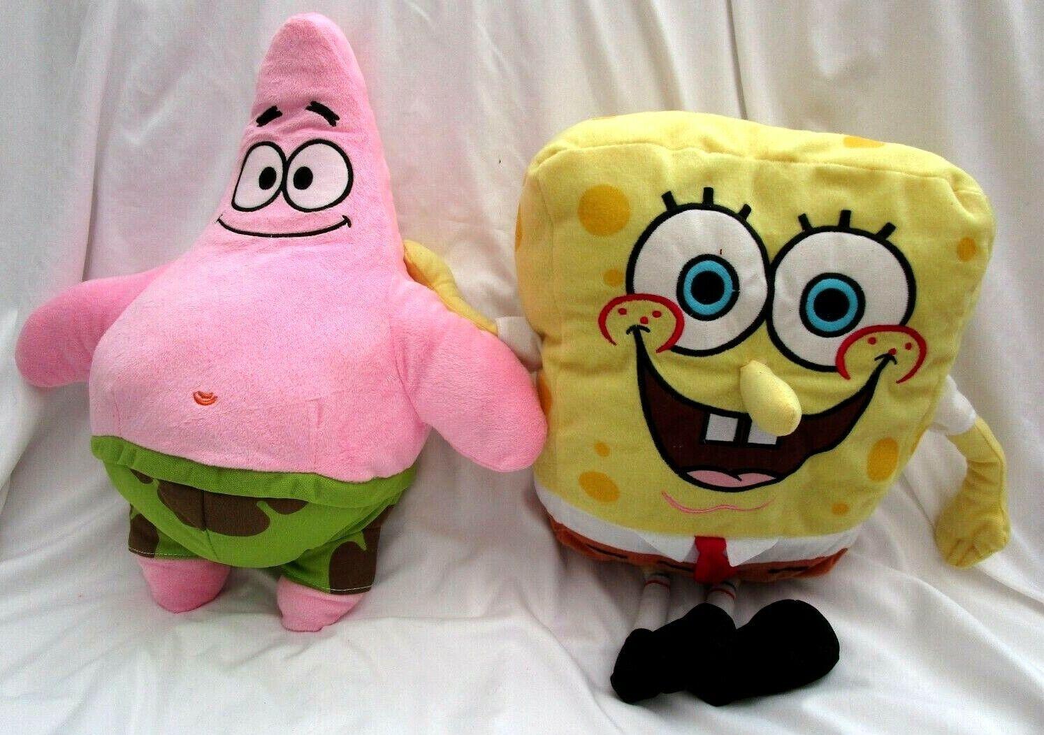 SpongeBob+Patrick Stern Fish 17  Plush Doll weich Stuffed Spielzeug Figures Combo-New v1