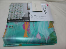Excell OCEANA Coral, Fish, Jelly Fish Peva Shower Curtain ~ Multi Colors NEW