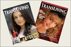 2  Miniature 'LGBT' TRANSGENDER  Magazines Dollhouse size 1:12 scale  OPENING