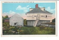 Vintage Postcard Kittery Point Maine ME Ruins of Old Fort McClary WB