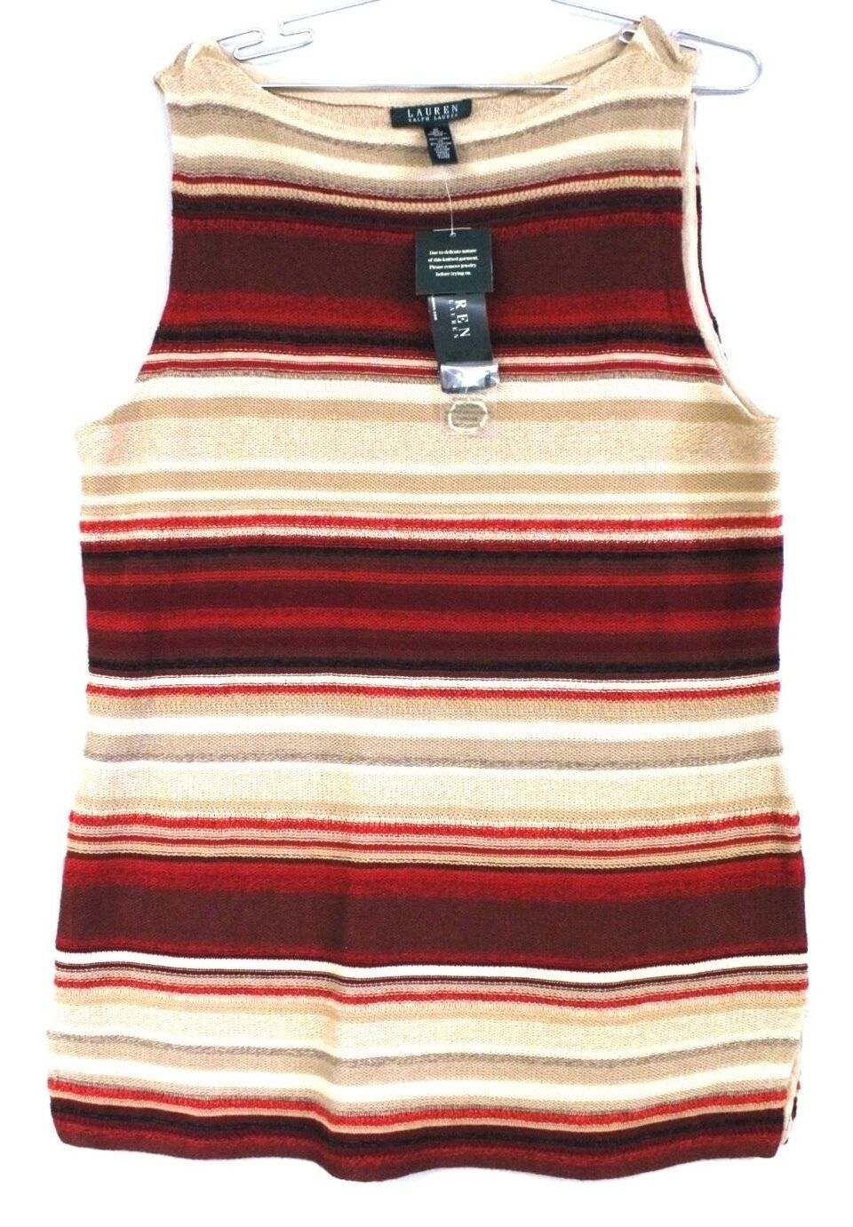 Lauren Ralph Lauren Indian Blanket Striped Knit Tunic Woherren  XL NWT  NEW
