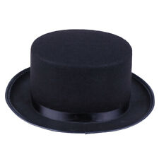 Black Deluxe Top Hat Magician Costume Mat Hatter Wedding Christmas Party Formal