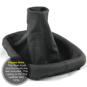Se-adapta-a-Seat-Cordoba-Mk3-2002-2009-Gear-Polaina-Real-leaher-Costura-negra