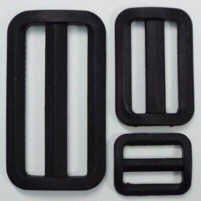 Plastic Fixed Bar Slide Buckle 3 bar Delrin Adjuster triglide webbing 20-50 mm