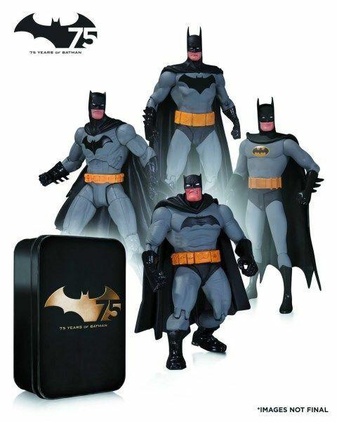 DC Collectibles Batman 75th aniversario (Set  2) 4-Figura de Acción PK  nuevo   Sellado