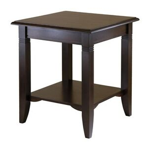 Details About Small Wooden Side End Table Open Storage Display Shelf Living Room Furniture New