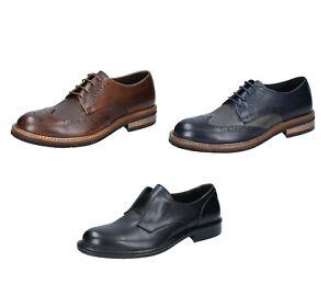 +2 PIU' DUE scarpe uomo classiche marrone blu e nero in pelle Made in Italy