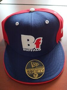 New Vintage Football New Era BUFFALO BILLS Fitted Hat Cap 7 1 4 ... d8dc08cdb65