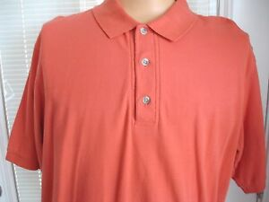 COLUMBIA-Short-Sleeve-Solid-Orange-Polo-Shirt-100-Cotton-Mens-Sz-M-Excellent