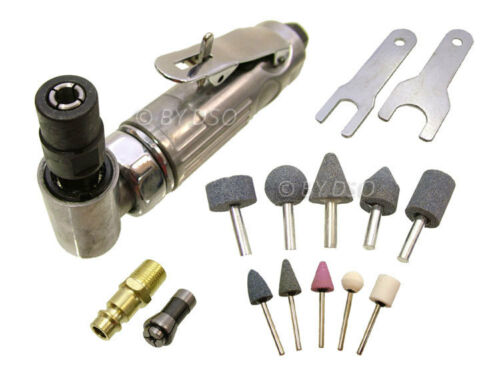 AIRCRAFT TOOLS NEW 15 PC 90 DEGREE ANGLED DIE GRINDER WITH GRINDING ACCESSORIES