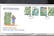 Botswana 2005 Edible Crops/Plants/Nature/Food 4v set FDC (n14902)