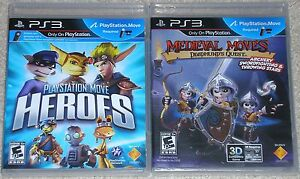 PS3-Game-Lot-Playstation-Move-Heroes-Used-Medieval-Moves-Deadmund-039-s-Quest