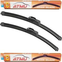 93-98 Lincoln Mark Viii (22+22) Windshield Wiper Blades Set Frameless All-seas on Sale