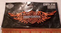 Vintage Harley wings patch collectible motorcycle emblem biker vest memorabilia