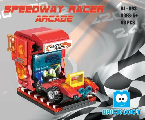 Speedway Racer Arcade Buildings Stores Brick Blocks FAST FREE USA SHIPPING
