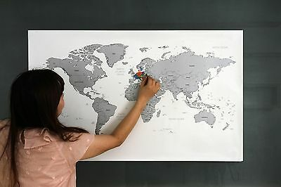 Large Size Personalized Scratch-Off World Map Poster Travel