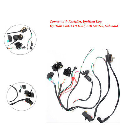 atv wiring kit atv wiring harness loom solenoid coil kill switch cdi pit quad  atv wiring harness loom solenoid coil