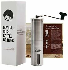 Javapresse Manual Coffee Grinder Conical Burr Mill Brushed