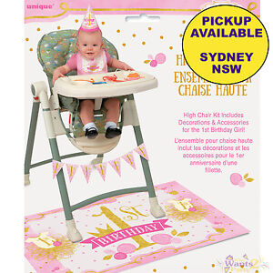Image Is Loading PINK Amp GOLD GIRL 1ST BIRTHDAY PARTY SUPPLIES