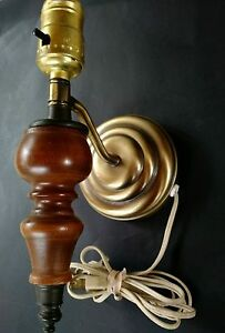 Bedside Wall Sconces Plug In : Vintage Mid Century Wall Mount Bedside Light Electric Plug in Lamp Sconce