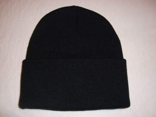 "Ski Black Superior 12/"" BEANIE Acrylic Knit CAP NEW"