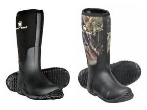 Arctic Shield Men's Rubber Neoprene Waterproof Insulated Boots NEW (Camo, Black)