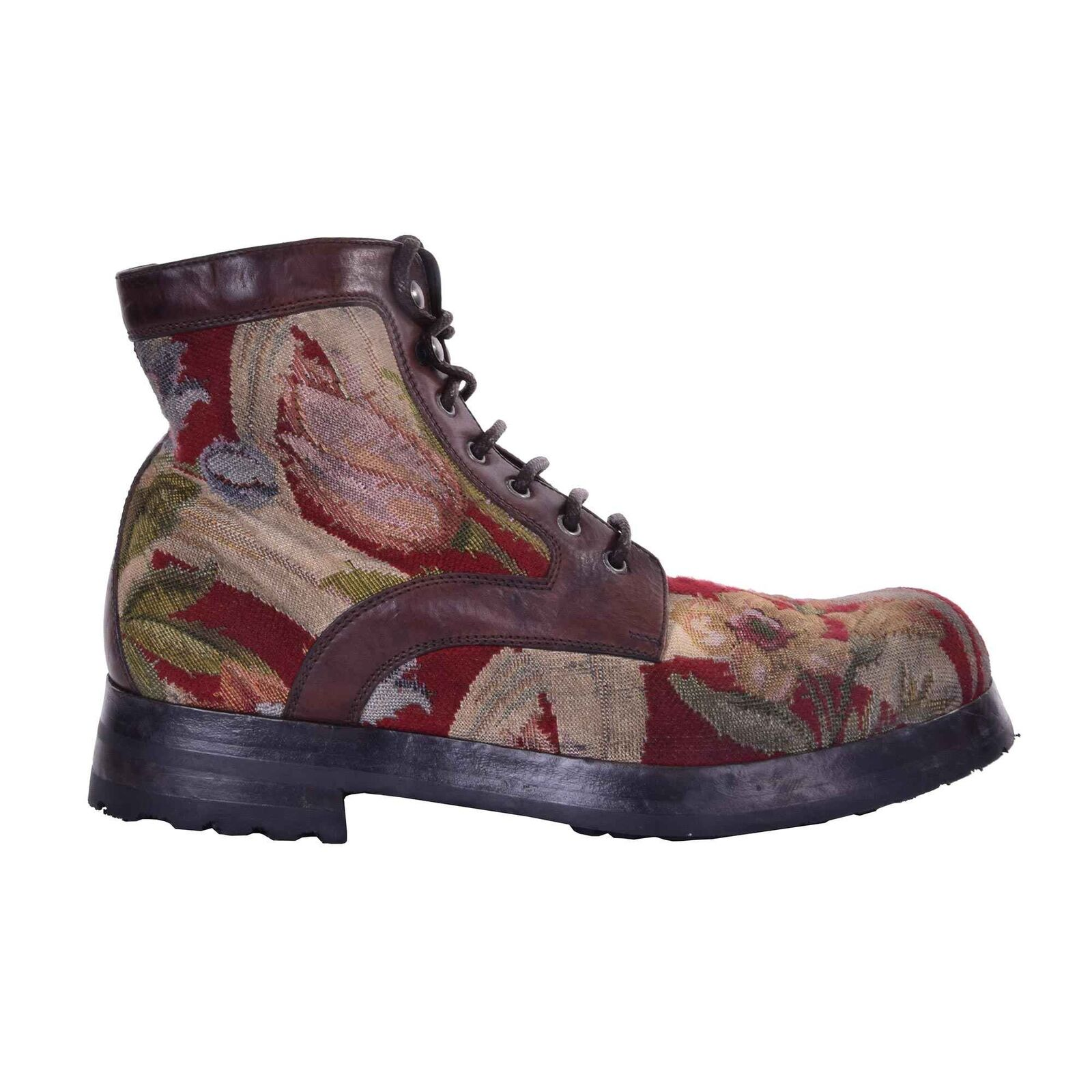 Dolce & gabbana flowers ankle boots san pietro braun red 44 us 11